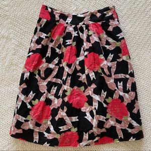 DownEast Basics Asbtract Floral Print Skirt